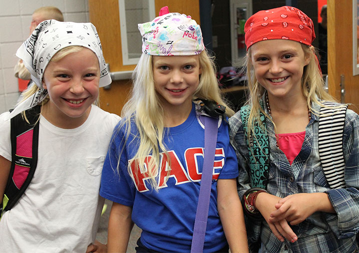 Getting into the pirate spirit are (left to right) Lily Foy, Broklynne Shy and Ainsley Oliver