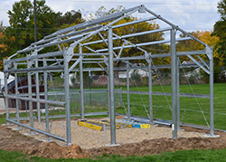 A greenhouse is being installed at Kelloggsville High School