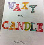 """Waxy the Candle"" is one of several books students created that will be displayed in the Brookwood Elementary library"