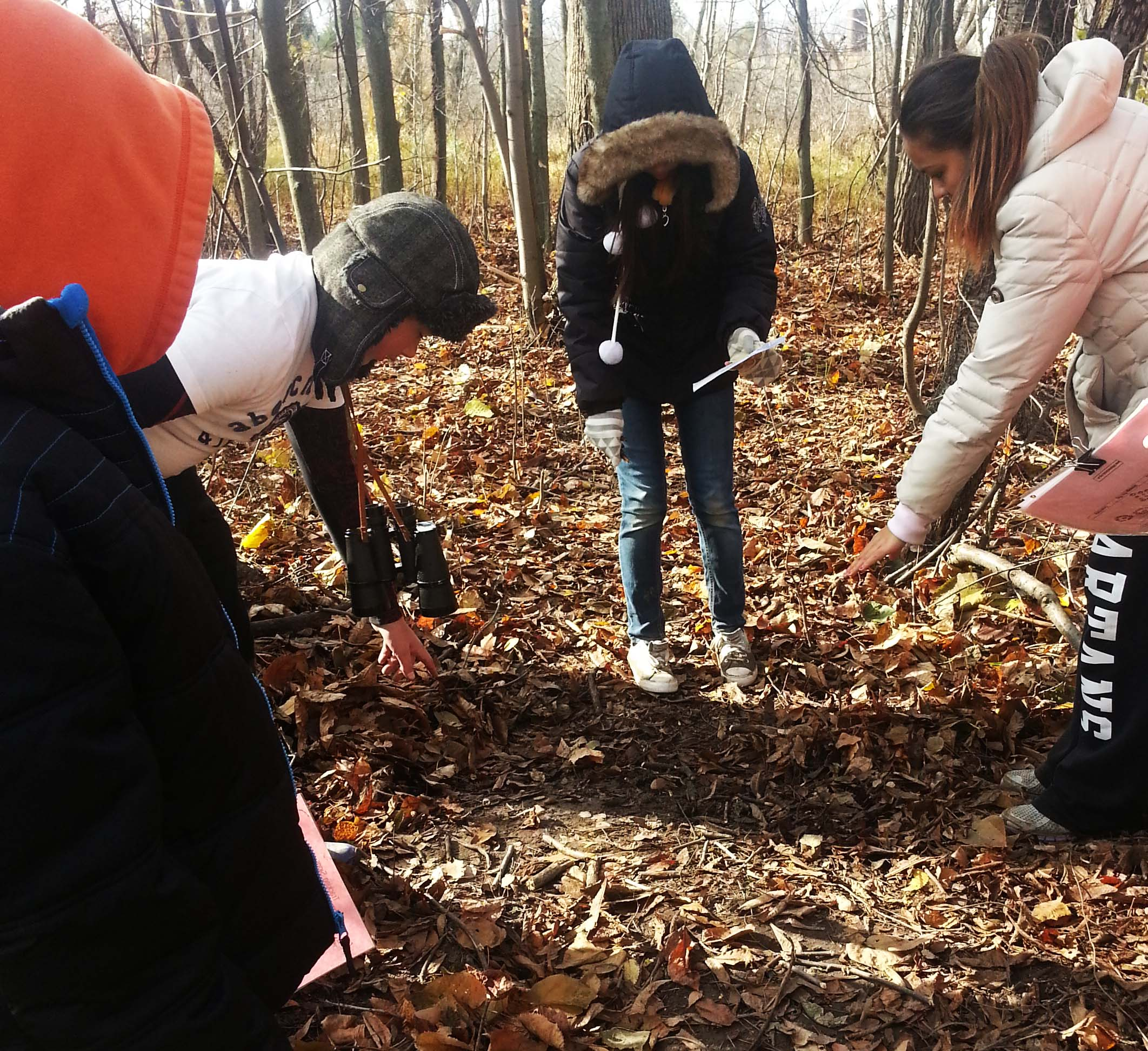 Students mark their trail