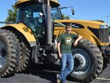 Jacob Brummel rode in with his friend Derek Plant on a Challenger tractor