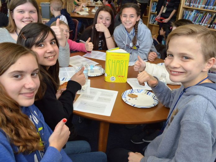 "This group of judges gave several thumbs-up to the novel ""Short"" by Holly Goldberg Sloan. The book was selected for a Mock Newbery Honor by Lowell Middle students"