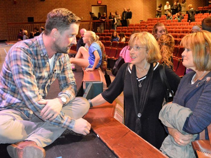 Columbine mass-shooting survivor Austin Eubanks spoke at a Rockford High School forum on opioid addiction last fall