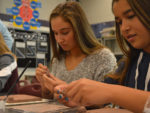 Students in art teacher Debra Kreuyer's interior design class create spheres that are attached for a collaborative group mural called the Legacy Project