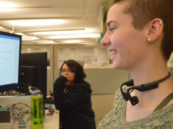 Ariana Price, senior at Forest Hills Eastern High School and Kent Innovation High is helping to turn the classroom's virtual reality autism project into a reality