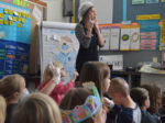 To make contractions fun, first-grade teacher Brittany Brown uses surgical masks, latex gloves and Band-Aids to teach the lesson