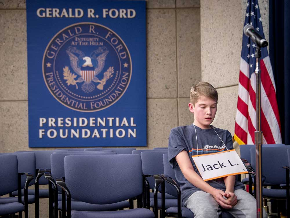 """East GR's Jack Lado takes the title at Spelling Bee with """"bollo"""