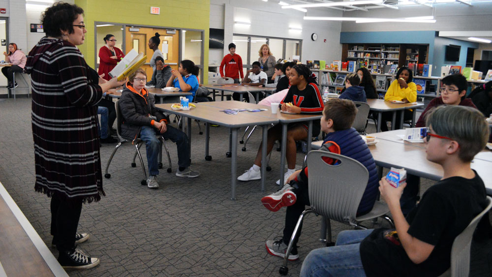 Library book talks are big hit with middle-schoolers