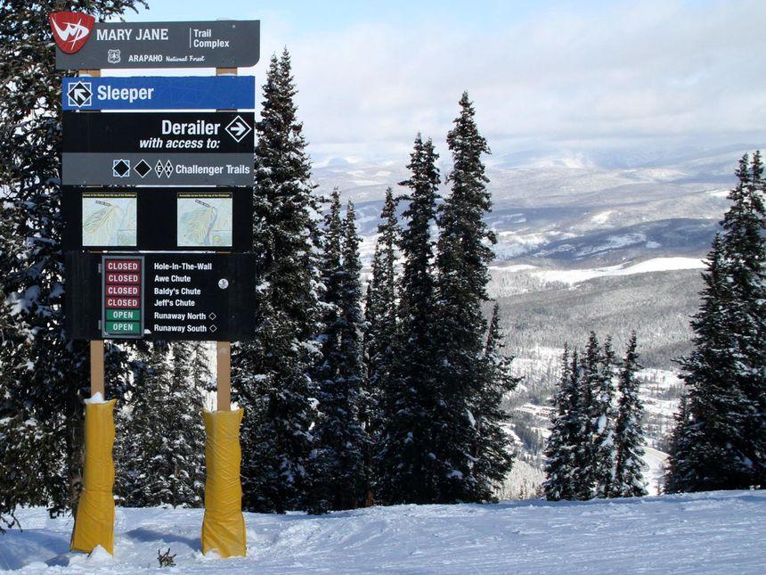 Winter Park terrain signs