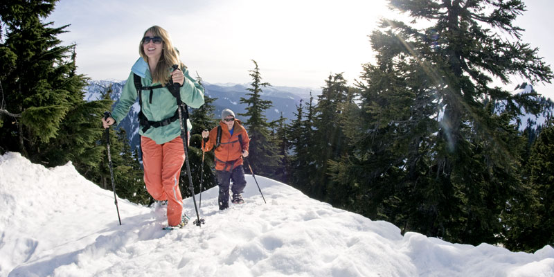Hikers like to snowshoe