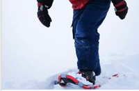 What to wear while snowshoeing.