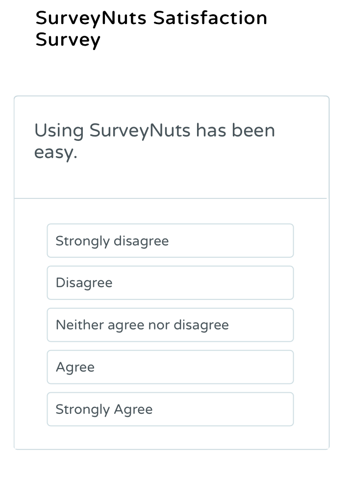 likert scale survey