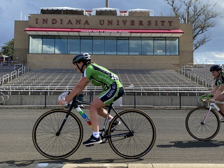 The Kappa Delta team practices April 9 at Bill Armstrong Stadium. Only essential volunteers and riders will be allowed in the stadium for the 2021 Little 500 races May 26.