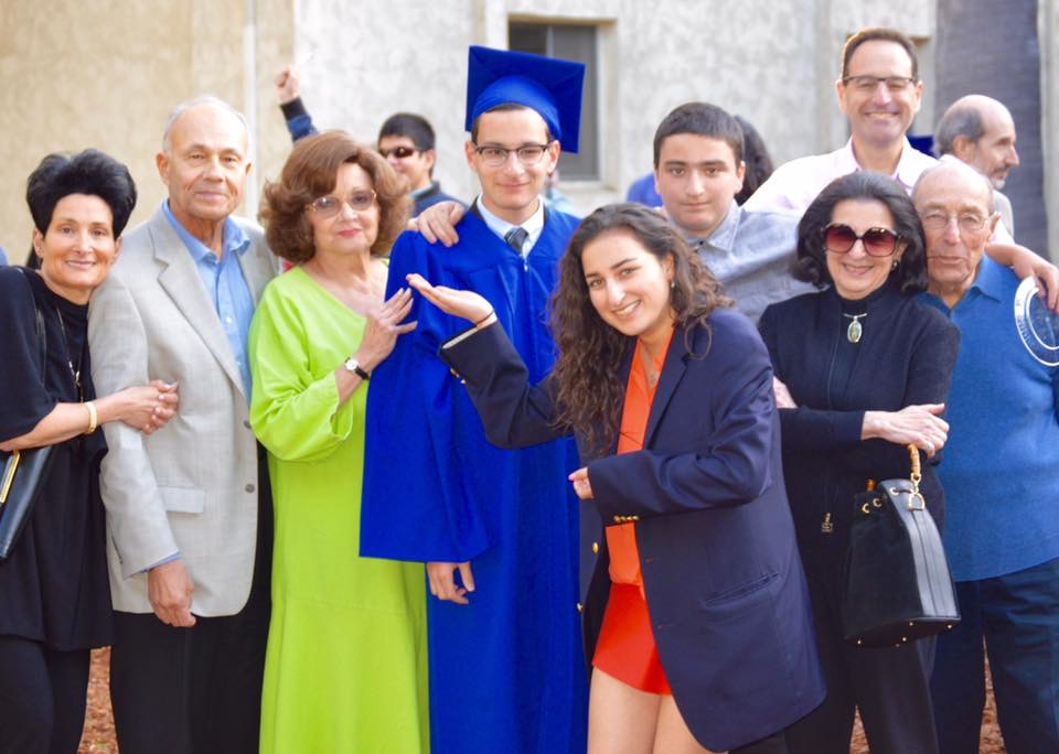 Abe with family members at his 2016 high school graduation