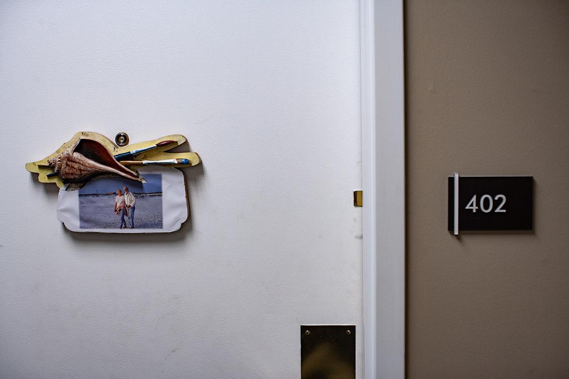 The door to Fran's room
