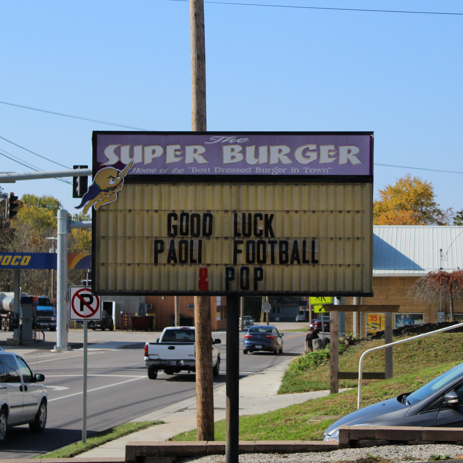 Super Burger wishes the band good luck.