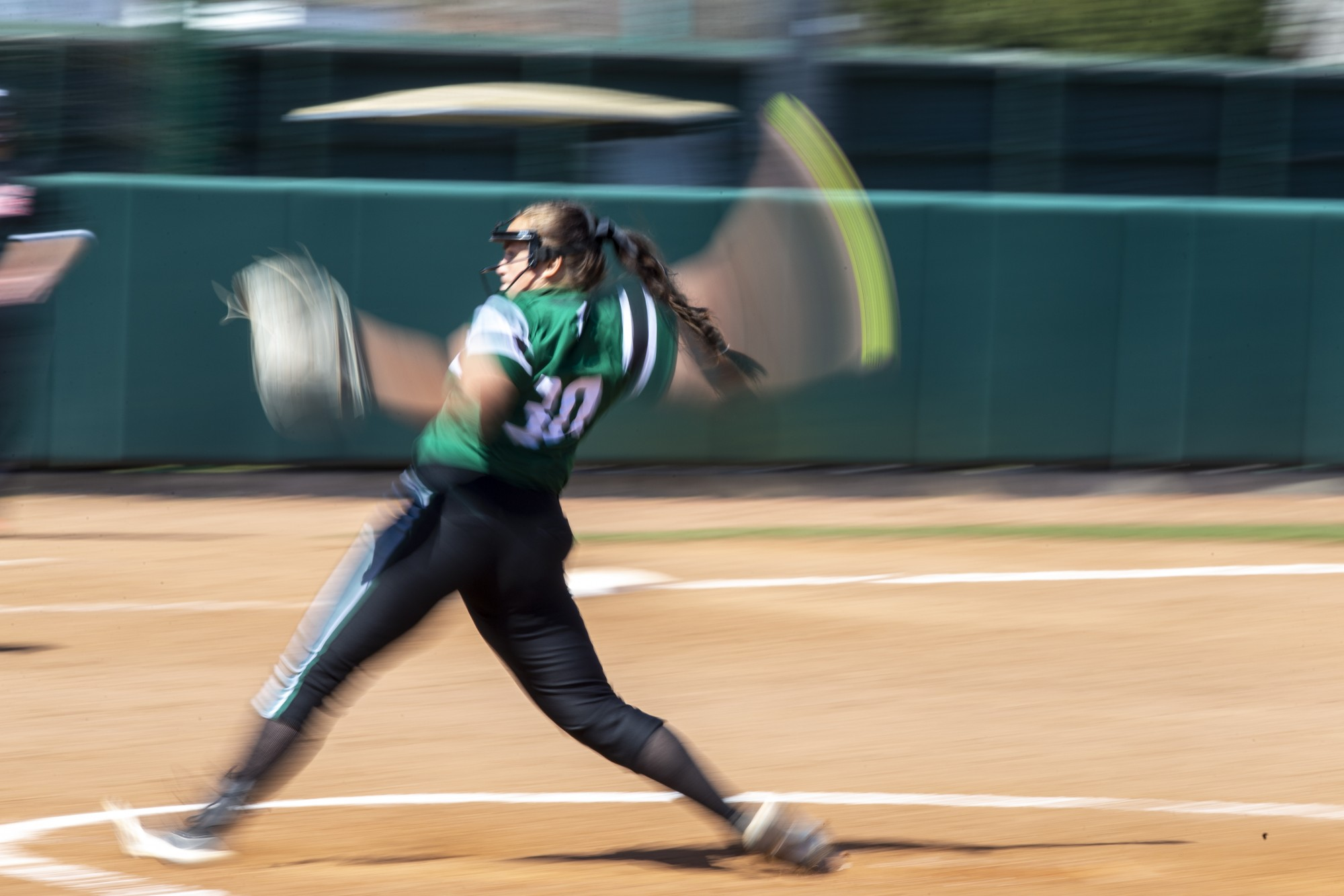 Ohio's pitcher, Mackensie Kohl (30), pitches against Northern Illinois University on Sat. March 20, 2021 in Athens, Ohio.