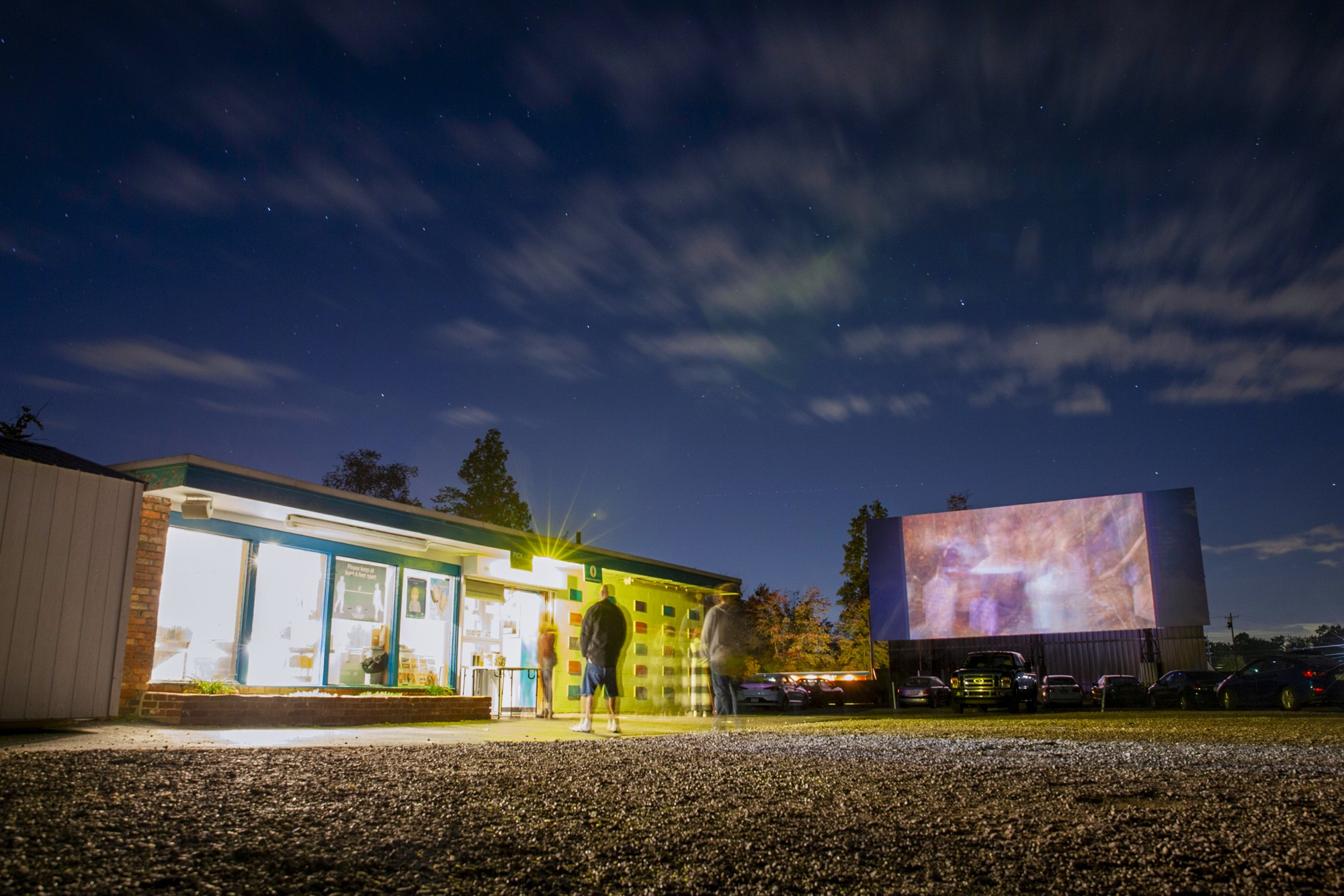 The Starlite drive-in screens 'Hocus Pocus' and the live action 'The Addams Family' on Sunday, October 4, 2020. The drive-in of Amelia, OH celebrates its 73rd anniversary this year.