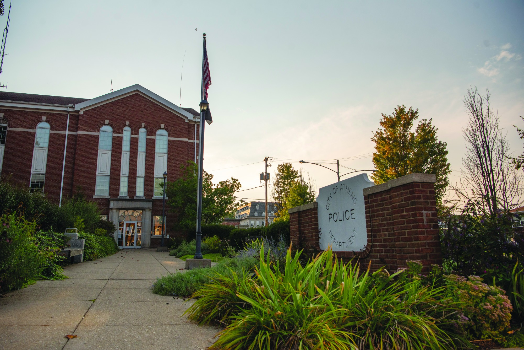 Athens Police Department located at 11 N College St in Athens, Ohio. (Kelsey Boeing | Director of Photography)