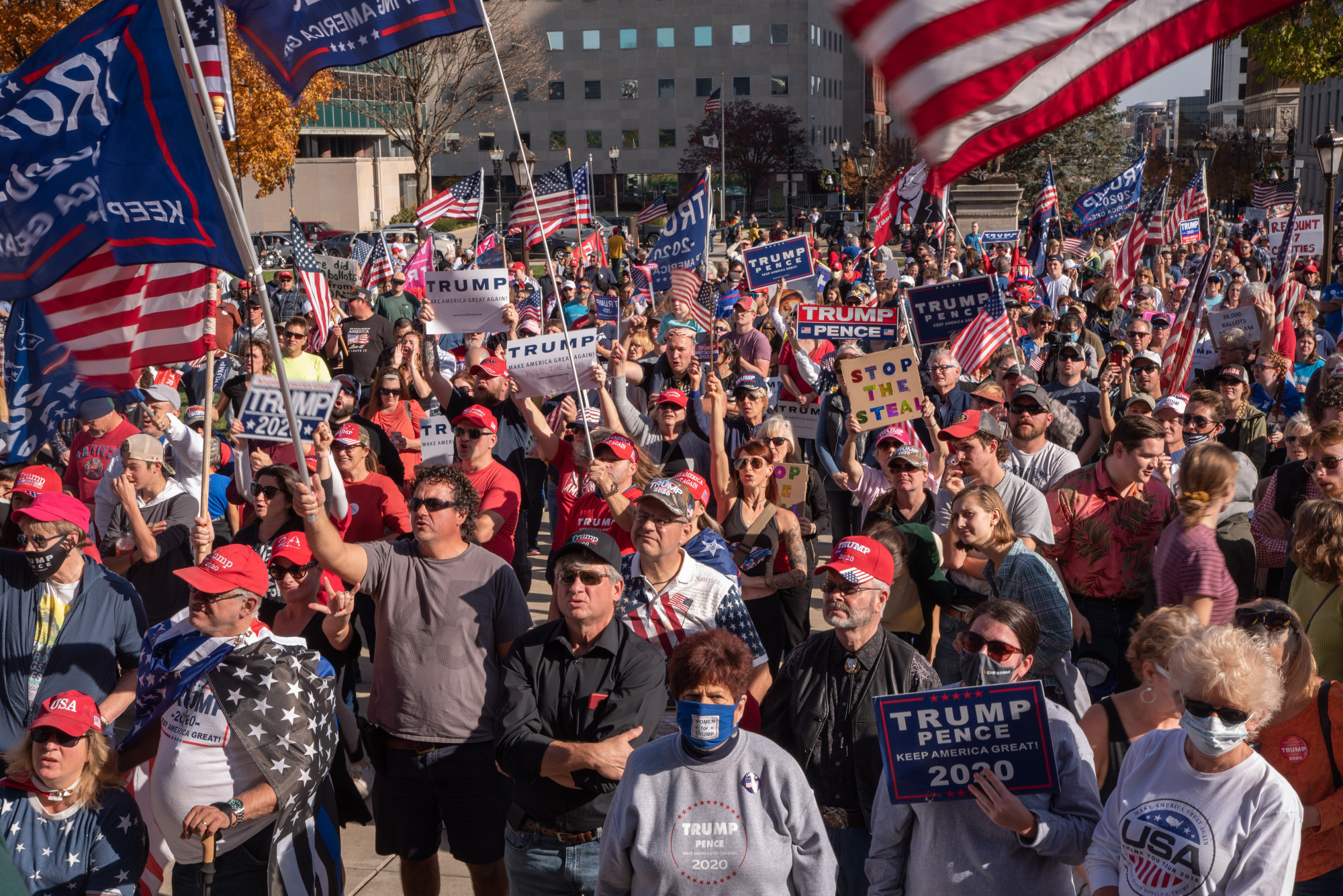Trump supporters gather at Capitol following Biden's projected win - The State News