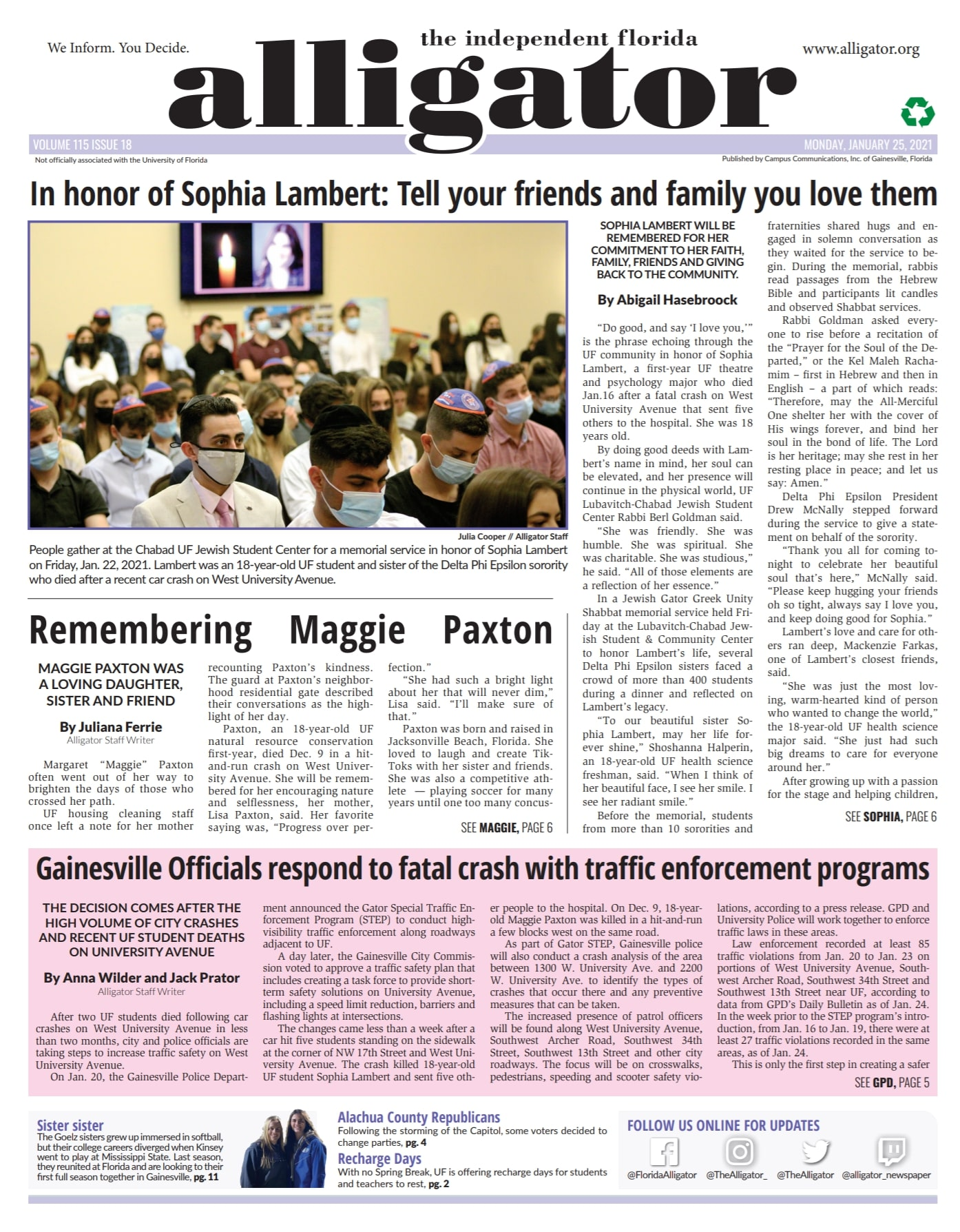 Read our print edition on Issuu
