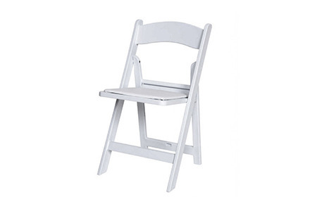White Structure Folding Chair