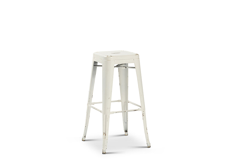 White Industrial Elio Bar Stool