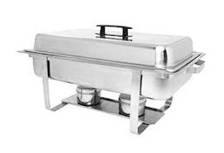 8 qt. Rectangular Stainless Steel Chafing Dish