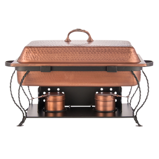 8 qt. Rectangular Copper Chafing Dish