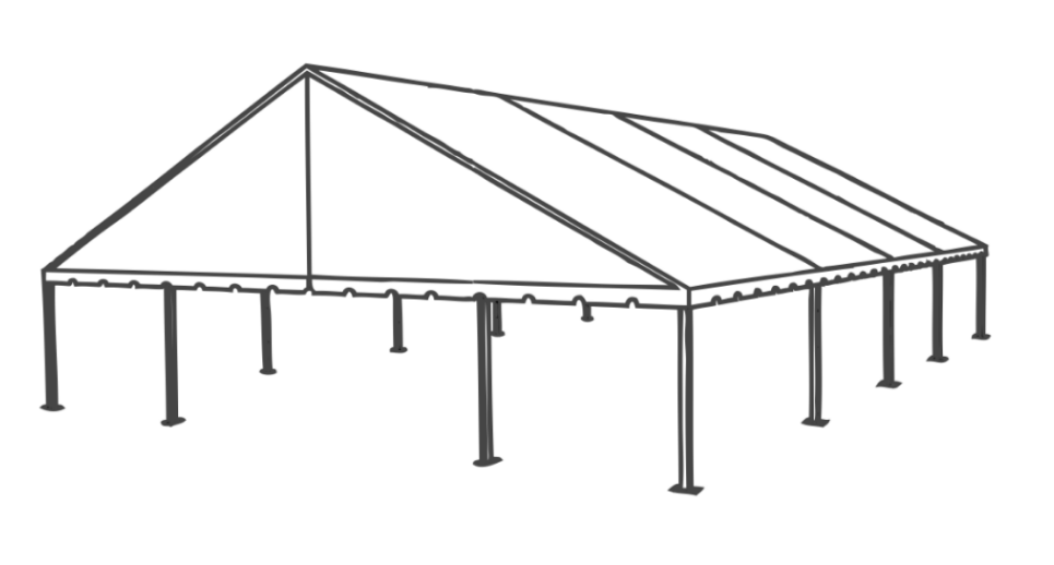 50 x 60 Frame Tent (Gable End)