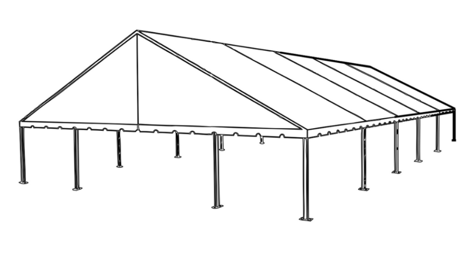 50 x 75 Frame Tent (Gable End)