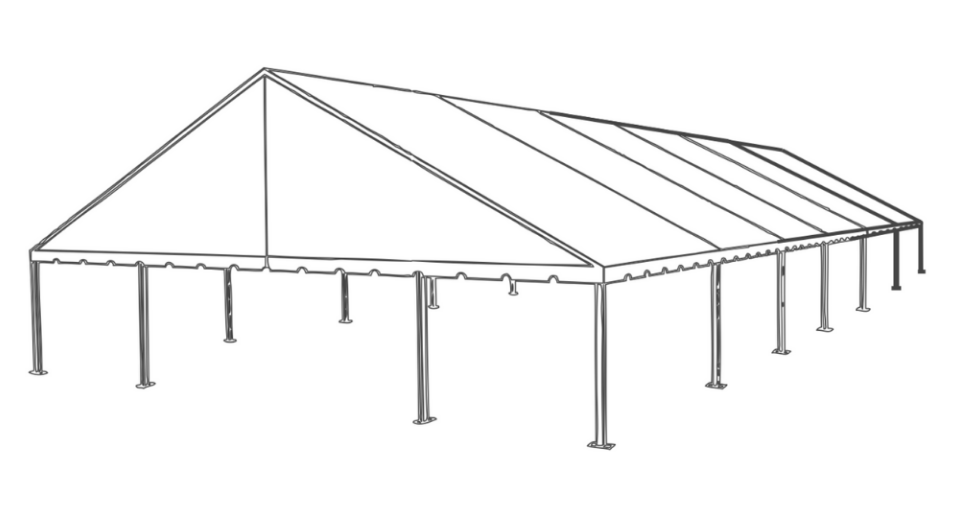 50 x 90 Frame Tent (Gable End)