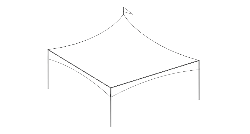 20 x 20 High Profile Tent