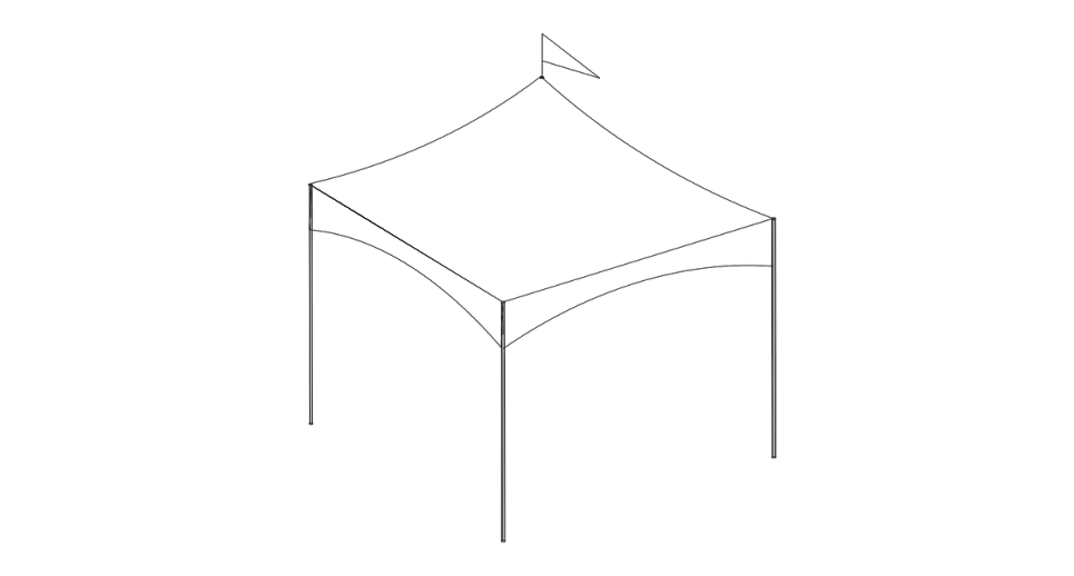 10 x 10 High Profile Tent