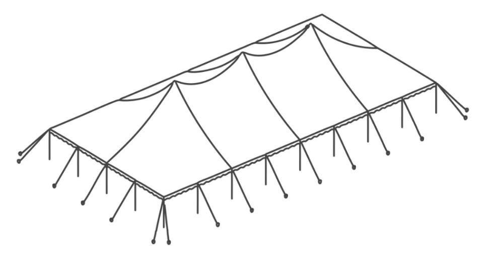 40 x 80 Pole Tent