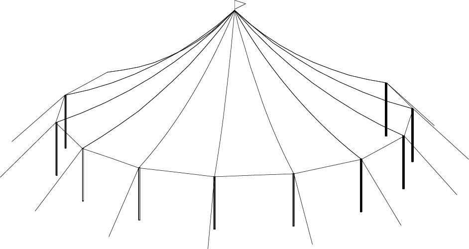 44 x 43 Sailcloth Tent