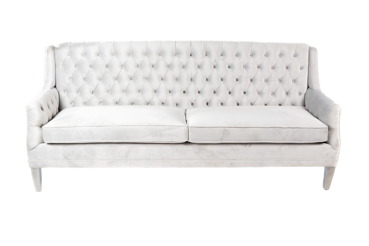 Alexis Velvet Sofa, Ice Blue