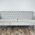 Alexis Velvet Sofa  Ice Blue Small