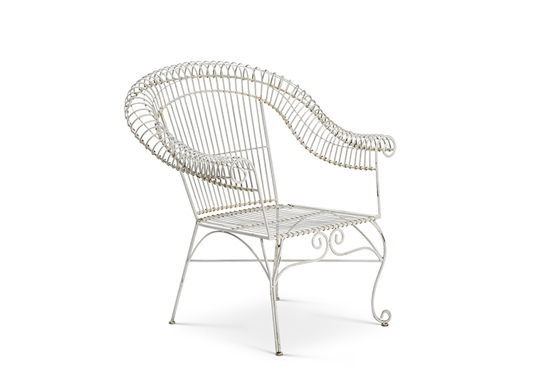 Vintage White Metal Chair
