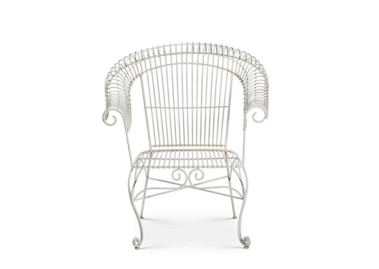 White Wire Chair Lounge 2280 1620