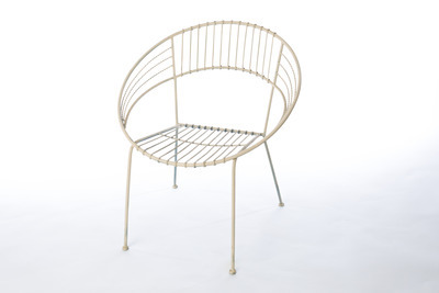 White Metal Hoop Chair