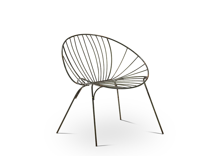 Metal Leaf Chair - Hunter Green