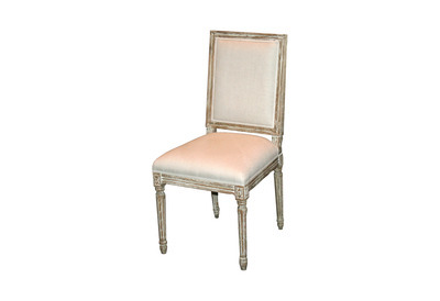 Louis XVI Grey Dining Chair