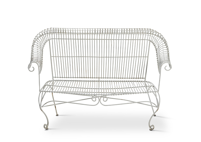 White Wire Bench Lounge 2280 1620