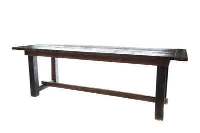 Mahogany Farm Dining Table Small