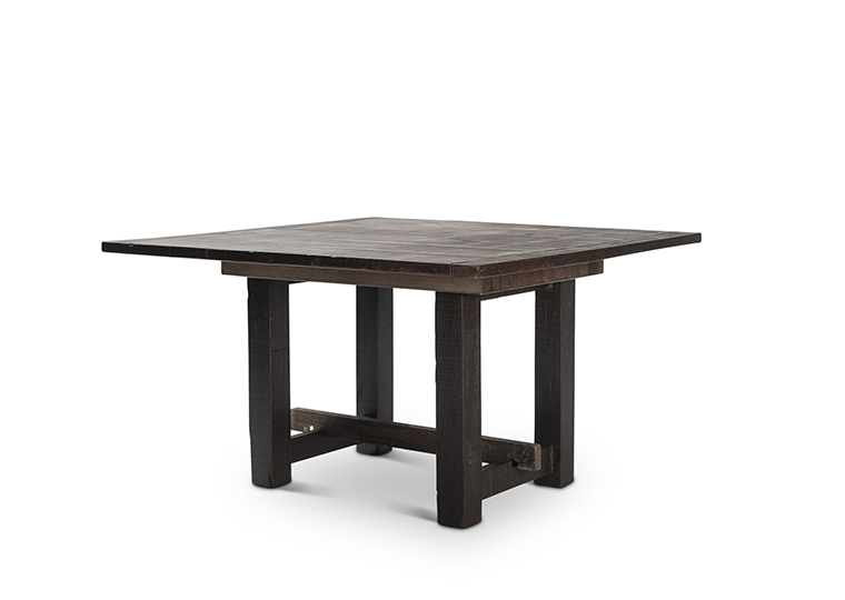 Square Mahogany Farm Table