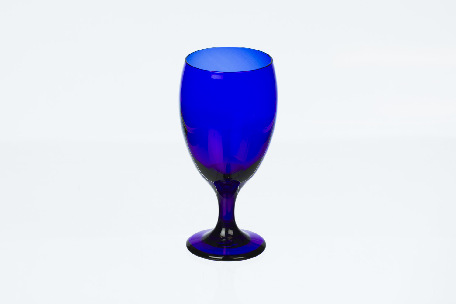 Cobalt Blue Water Goblet