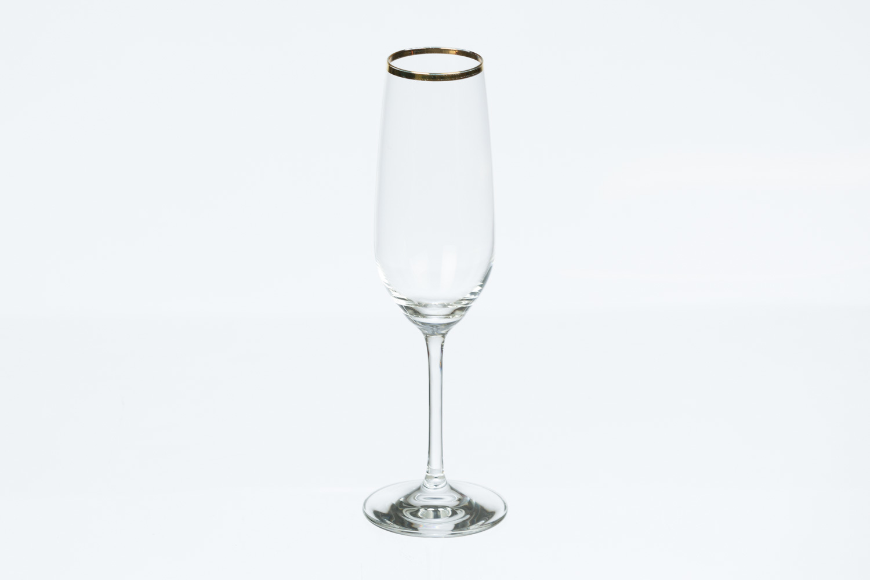 Gold Rim Champagne Flute