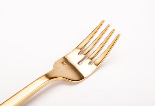 Gold Salad Fork Detail Lg Medium