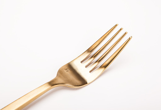 Gold Dinner Fork Detail Lg Medium